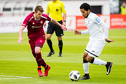 Ozbej Kuhar of NK Triglav Kranj and Djair Terraii Carl Parfitt-Williams of NK Rudar Velenje during football match between NK Triglav Kranj and NK Rudar Velenje in Round #27 of Prva Liga Telekom Slovenije 2017/18, on April 15, 2018 in Sports park Kranj, Kranj, Slovenia. Photo by Ziga Zupan / Sportida