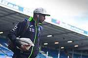 Swansea City forward Andre Ayew (22) arrives at the ground during the EFL Sky Bet Championship match between Leeds United and Swansea City at Elland Road, Leeds, England on 31 August 2019.
