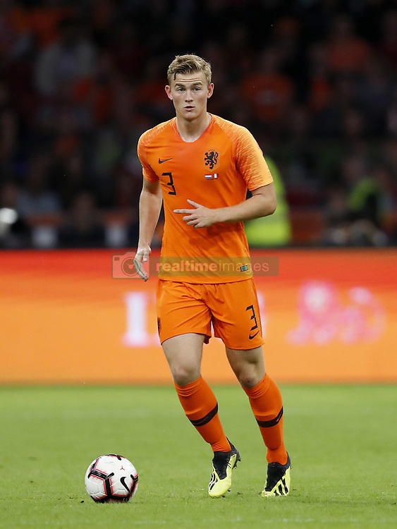 Matthijs de Ligt of Holland during the International friendly match match between The Netherlands and Peru at the Johan Cruijff Arena on September 06, 2018 in Amsterdam, The Netherlands