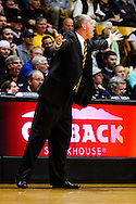 November 13th, 2013:  Colorado Buffaloes head coach Tad Boyle disagrees with a technical foul call in the first half of action in the NCAA Basketball game between the University of Wyoming Cowboys and the University of Colorado Buffaloes at the Coors Events Center in Boulder, Colorado