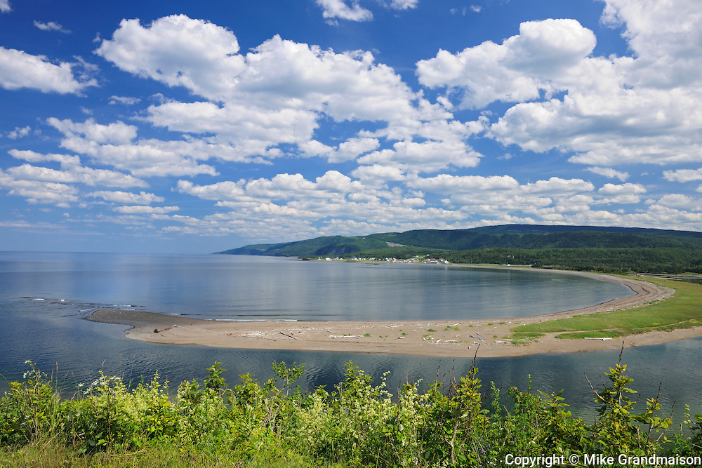 Sand bar (barachois) on the Gulf of St. Lawrence<br /> Riviere-la-Madeleine<br /> Quebec<br /> Canada