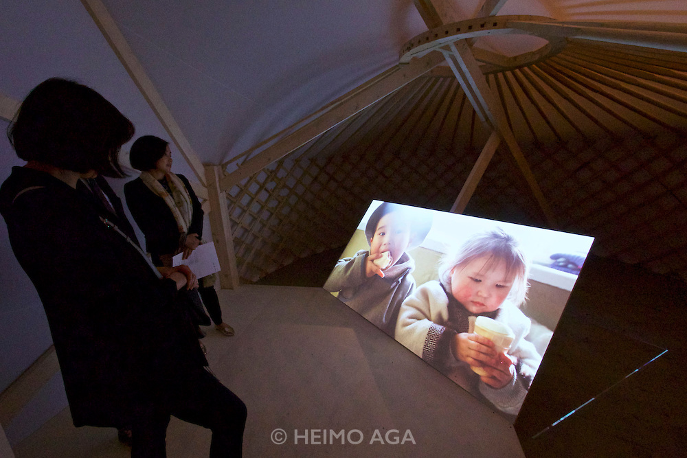 """Venice, Italy - 15th Architecture Biennale 2016, """"Reporting from the Front"""".<br /> Arsenale.<br /> The Work of Rural Urban Framework in Mongolia."""