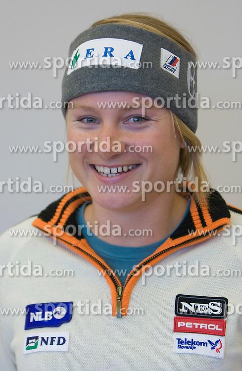 Ana Drev of Slovenian Alpine Ski Team before new season 2008/2009, on Septembra 25, 2008, Ljubljana, Slovenia. (Photo by Vid Ponikvar / Sportal Images)
