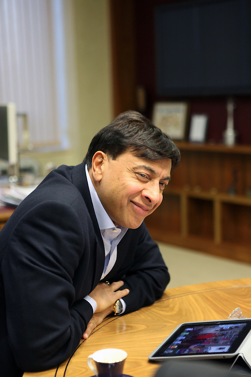 Lakshmi Mittal in his office, London, December 2012
