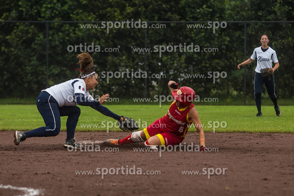 France vs Spain during XIX European Softball Fastpitch  Championship Women, on July 20, 2015 in Rosmalen,  Netherlands. Photo by Grega Valancic / Sportida