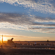 Sunset party at AfrikaBurn 2014, Tankwa Karoo desert, South Africa