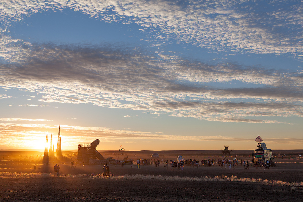 Sunset party at AfrikaBurn 2014, Tankwa Karoo desert, South Africa