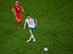 CARDIFF, WALES - Thursday, September 6, 2018: Republic of Ireland's captain Séamus Coleman during the UEFA Nations League Group Stage League B Group 4 match between Wales and Republic of Ireland at the Cardiff City Stadium. (Pic by Laura Malkin/Propaganda)