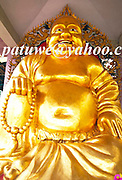 Golden happy Buddha in Hong Kong