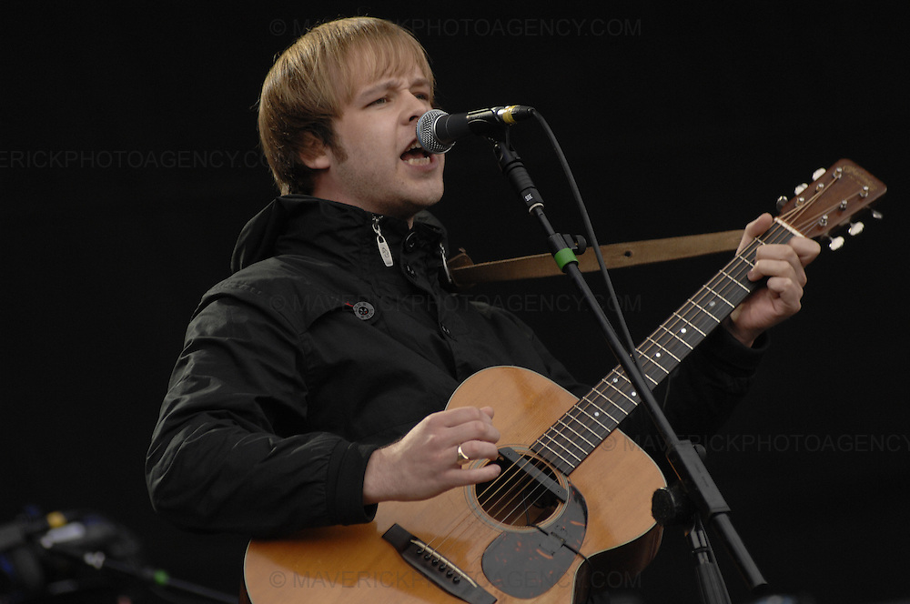 BALADO, KINROSS, SCOTLAND - JULY 6th 2007: The Coral perform live at T in the Park 2007.  Pictured singer James Skelly.