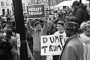 TRUMP SUPPORTER BRIAN K. SMITH,  - HE THOUGHT TRUMP WOULD BE GOOD FOR THE ECONOMY, Public going to the Inauguration of Donald Trump and demonstrators and various entrances,  Washington DC. 20  January 2017