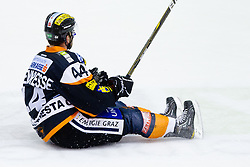 Olivier Latendresse (Moser Medical Graz 99ers, #44) during of ice-hockey match between Moser Medical Graz 99ers and HDD Tilia Olimpija in 11th Round of EBEL league, on October 14, 2011 at Eisstadion Graz-Liebenau, Graz, Austria. (Photo By Matic Klansek Velej / Sportida)