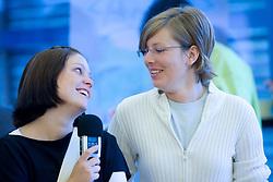 Spela Pogacar and Andreja Potocnik, on September 25, 2008, Ljubljana, Slovenia. (Photo by Vid Ponikvar / Sportal Images)