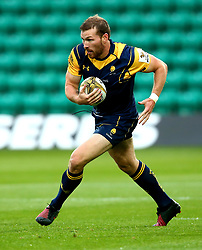 Max Stelling of Worcester Warriors runs with the ball - Mandatory by-line: Robbie Stephenson/JMP - 28/07/2017 - RUGBY - Franklin's Gardens - Northampton, England - Sale Sharks v Worcester Warriors - Singha Premiership Rugby 7s