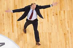 Jure Zdovc, head coach of Union Olimpija during final match of Basketball NLB League at Final four tournament between KK Union Olimpija (SLO) and Partizan Belgrade (SRB), on April 21, 2011 in Arena Stozice, Ljubljana, Slovenia. Partizan defeated Union Olimpija 77-74 and became NLB league Champion 2011.  (Photo By Vid Ponikvar / Sportida.com)