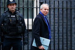 © Licensed to London News Pictures. 08/01/2018. London, UK. Former Justice Secretary David Lidington MP, who became Chancellor of the Duchy of Lancaster and Minister for Cabinet Office leaves Downing Street following a cabinet reshuffle on Monday, 8 January 2018. Photo credit: Tolga Akmen/LNP