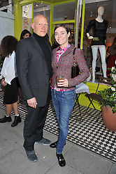 CAMILLA RUTHERFORD and DOMINIC BURNS at a party at De Roemer, 14 Porchester Place, London W2 on 1st May 2013.