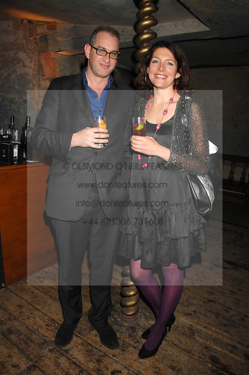 WILLIE STIRLING and THOMASINA MIERS at a reception to Discover Wilton's Music Hall held at the hall in Graces Alley, London E1 on 5th December 2007.<br />