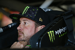 July 20, 2018 - Loudon, New Hampshire, United States of America - Kurt Busch (41) hangs out in the garage during practice for the Foxwoods Resort Casino 301 at New Hampshire Motor Speedway in Loudon, New Hampshire. (Credit Image: © Justin R. Noe Asp Inc/ASP via ZUMA Wire)