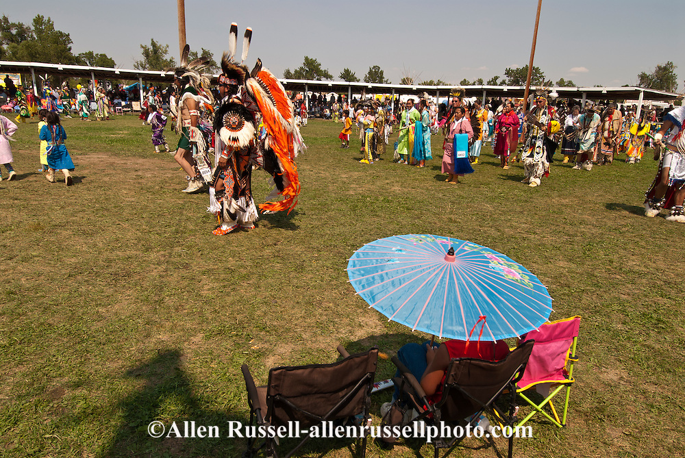 Crow Fair, Powwow, Grand Entry, Crow Indian Reservation, Montana.