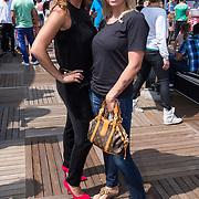 NLD/Amsterdam/20130713 - AFW 2013 Zomer, modeshow Supertrash Girls, Melissa Schaufelli en vriendin
