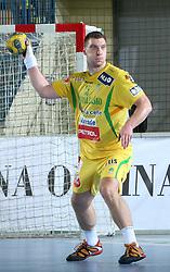 Miladin Kozlina (15) during the 1st Main round of EHL Champions League match between RK Celje Pivovarna Lasko (SLO) and Rhein Neckar Lowen (GER), on February 14, 2009, in Arena Zlatorog, Celje, Slovenia. Rhein Neckar Lowen won 34:28.  (Photo by Vid Ponikvar / Sportida)