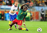 CAPE TOWN, SOUTH AFRICA- Thursday 24 June 2010, Landry Nguemo during the match between the Netherlands (Holland) and Cameroon held at the new Cape Town Stadium in Green Point during the 2010 FIFA World Cup..Photo by Roger Sedres/Image SA
