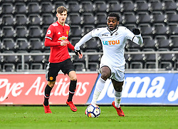 Botti Biabi of Swansea City in action - Mandatory by-line: Craig Thomas/Replay images - 18/03/2018 - FOOTBALL - Liberty Stadium - Swansea, England - Swansea City U23 v Manchester United U23 - Premier League 2 - Divison 1