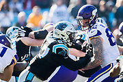 December 10, 2017: Minnesota vs Carolina. Mario Addison, Vikings player Rudolph, Kyle