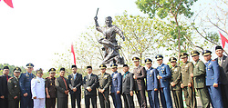 October 1, 2018 - Madiun, East Java, Indonesia - A number of officials joined the Regional Leadership Coordination Forum [Forkopimda] as well as honored guests after the commemoration of the Pancasila Demonstration Day photo together at the Kresek Monument in Madiun Regency, October 1, 2018 (Credit Image: © Ajun Ally/Pacific Press via ZUMA Wire)