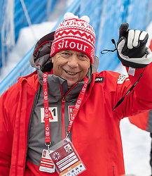 17.02.2019, Aare, SWE, FIS Weltmeisterschaften Ski Alpin, Slalom, Herren, 2. Lauf, im Bild Prof. Peter Schröcksnadel (ÖSV Präsident) // Peter Schroecksnadel Austrian Ski Association President during the men's Slalom of FIS Ski World Championships 2019. Aare, Sweden on 2019/02/17. EXPA Pictures © 2019, PhotoCredit: EXPA/ Johann Groder