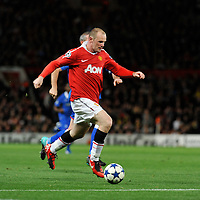 Champions League.Manchester United V Rangers.Wayne Rooney and David Weir