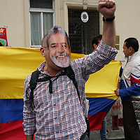 Pro Venezuela against fascism and imperialism counter protest by opposition in London