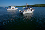 Boating in Nicolet Bay at Peninsula State Park in Door County, Wisconsin.  Mike Roemer Photo