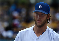June 7, 2017 - Los Angeles, California, U.S. - Los Angeles Dodgers starting pitcher Clayton Kershaw walks toward the dugout after giving up a solo home run against the Washington Nationals in the second inning of a Major League baseball game at Dodger Stadium on Wednesday, June 7, 2017 in Los Angeles. (Photo by Keith Birmingham, Pasadena Star-News/SCNG) (Credit Image: © San Gabriel Valley Tribune via ZUMA Wire)