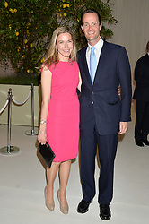 EDWARD & SOPHIE TOLLEMACHE at a dinner hosted by Cartier in celebration of The Chelsea Flower Show held at The Hurlingham Club, London on 19th May 2014.