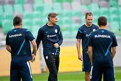 Vid Belec at first practice before friendly football match between National teams of Slovenia and Romania, on August 13, 2012 in SRC Stozice, Ljubljana, Slovenia. (Photo by Matic Klansek Velej / Sportida.com)
