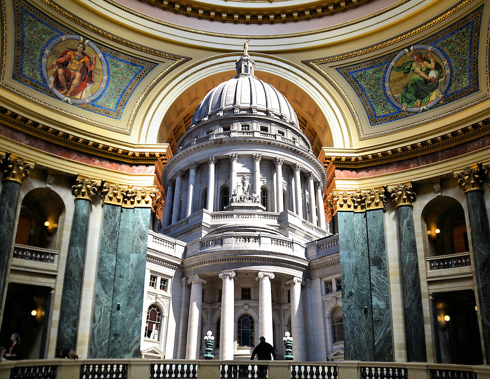 Wisconsin State Capitol Building Composite In Madison