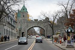Rua na cidade  de Quebec, Canada / Street in the city of Quebec, Canada