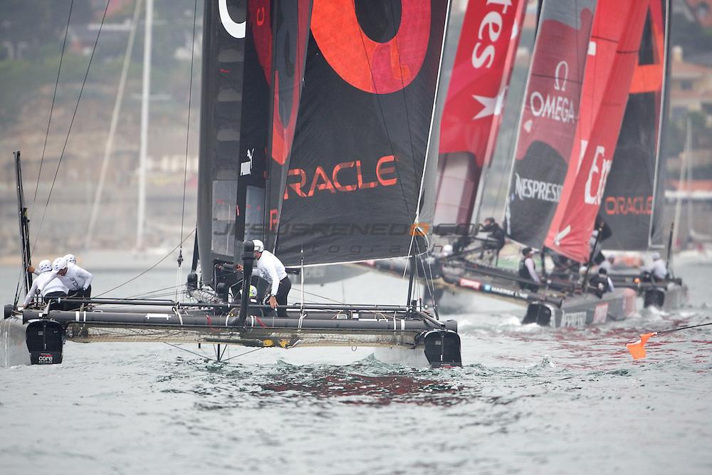AC World Series,Cascais,Portugal.First day of racing, fleet race.