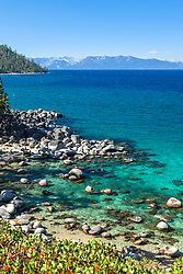 """Boulders at Secret Cove 7"" - These boulders shoreline were photographed at Secret Cove on the East Shore of Lake Tahoe."