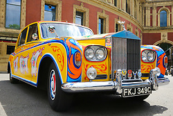 June 1, 2017 - London, London, United Kingdom - Image licensed to i-Images Picture Agency. 01/06/2017. London, United Kingdom. The Bootleg Beatles with a Psychedelic Rolls Royce Phantom outside the Royal Albert Hall in London ahead of their show with the Liverpool Philharmonic Orchestra on the 50th anniversary of the release of the Beatles Sgt Pepper's Lonely Hearts Club Band album.  Picture by Dinendra Haria / i-Images (Credit Image: © Dinendra Haria/i-Images via ZUMA Press)