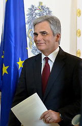 20.03.2012, Bundeskanzleramt, Wien, AUT, Bundesregierung, Sitzung des Ministerrats, im Bild Bundeskanzler Werner Faymann SPÖ // Federal Chancellor Werner Faymann SPOE during the press foyer after the council of ministers, Chancellors office, Vienna, Austria on 2012/03/20, EXPA Pictures © 2012, PhotoCredit: EXPA/ M. Gruber