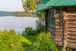 Cabin 8 next to Long Pond outside the Appalachian Mountain Club's Gorman Chairback Lodge.