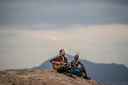 """Dave Matthews (@davematthewsband) plays """"Song of Africa"""" with the Mathews Range of #Namunyak Wildlife Conservancy in the background. Dave has tirelessly worked as an advocate for conservation efforts and contributed large sums to peacefully proactive environmentalist groups.<br /> <br /> Namunyak Wildlife Conservancy is home to Reteti Elephant Sanctuary (@r.e.s.c.u.e), the first ever community-owned and run elephant sanctuary in Africa. The sanctuary provides a safe place for injured elephants to heal and later, be returned back to the wild. You can support this incredible place and the people who protect wildlife. Make a $10 contribution in support of Reteti for a chance to win a trip to Kenya, see Dave Matthews in concert and take home Dave's guitar with @prizeo (Link in profile). Not only will you be helping care for orphaned baby elephants and strengthening community ties, you'll also have a chance to win a life-changing trip to see the sanctuary in person. The first $10,000 in funds raised will be generously matched by Elephant Gems (@elephantgems).<br /> <br /> Reteti operates in partnership with Conservation International (@conservationorg) who provide critical operational support and work to scale the Reteti community-centered model to create lasting impacts worldwide. <br /> <br /> Photo by @amivitale."""