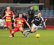 Partick Thistle&rsquo;s Stuart Bannigan brings down Dundee&rsquo;s Greg Stewart - Dundee v Partick Thistle, Ladbrokes Premiership at Dens Park<br /> <br />  - &copy; David Young - www.davidyoungphoto.co.uk - email: davidyoungphoto@gmail.com