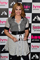 Demi Lovato signing. Former Disney star hosts meet and greet with fans and signs copies of eponymous new album, Demi.  HMV Oxford Circus, London, United Kingdom, 28th May 2013. Photo by Nils Jorgensen / i-Images.