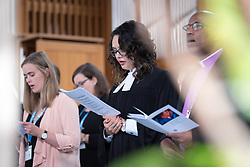 "28 June 2018, Geneva, Switzerland: Opening worship. The 2018 LWF Council meeting takes place in Geneva from 27 June - 2 July. The theme of the Council  is ""Freely you have received, freely give"" (Matthew 10:8, NIV). The LWF Council meets yearly and is the highest authority of the LWF between assemblies. It consists of the President, the Chairperson of the Finance Committee, and 48 members from LWF member churches in seven regions."