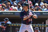 Justin Morneau #33 of the Minnesota Twins waits on-deck during a game against the Baltimore Orioles on May 12, 2013 at Target Field in Minneapolis, Minnesota.  The Orioles defeated the Twins 6 to 0.  Photo: Ben Krause