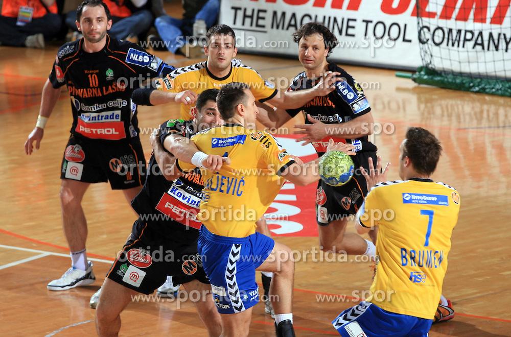 Branko Bedekovic vs Mrvaljevic at Men Slovenian Handball Cup, final match between RK Cimos Koper and RK Celje Pivovarna Lasko, on April 19, 2009, in Arena Bonifika, Koper, Slovenia.  (Photo by Vid Ponikvar / Sportida)